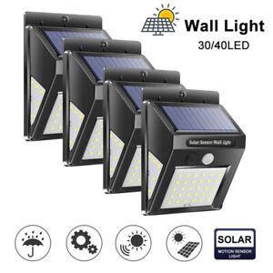 40LED-energie-Solaire-PIR-Capteur-De-Mouvement-Mur-Lampe-jardin-etanche-eau-securite-lumiere