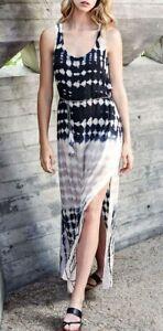 ef222385b44 Karen Kane 2L31572 Black Neutral Tie Dye Side Slit Maxi Dress w ...