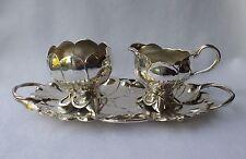 *RAR* Prächtiges Kaffeeset Jugendstil plastische Sonnenblumen (?) WMF um 1910