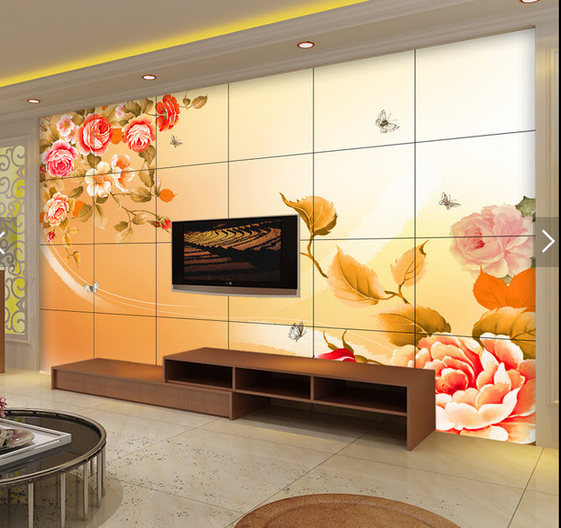 3D Flowers Golden Leaves 6 Wall Paper Wall Print Decal Deco Indoor Wall Mural CA