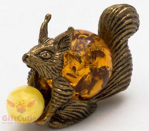 Solid Brass Amber Figurine of young Goat IronWork