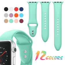 3-Pieces Set Silicone Watch Band Strap for Apple Watch iWatch Series 4/3/2/1