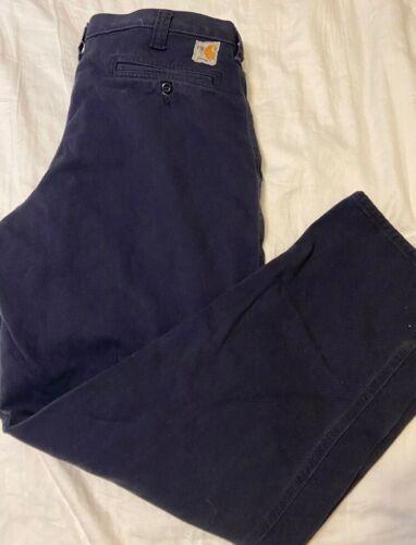 VG Condition Welder//mechanic 371-20 Carhartt FR Navy Blue Pants 36x32