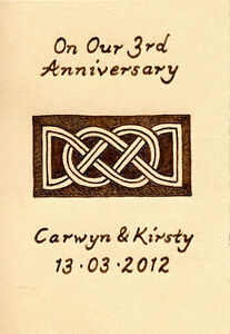 3rd-Wedding-Anniversary-Personalised-ACEO-Size-Leather-Celtic-Lovers-Knot-Design