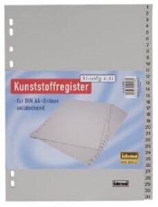 Idena-Register-31-teilig-Kunststoffregister-Ordner-A4-Zahlenregister-1-31