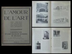 L'amour De L'art N°4 1923 Belgique, Architecture Moderne, Art Deco Pour Convenir à La Commodité Des Gens