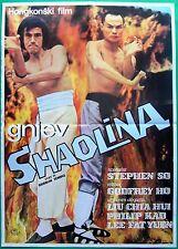 SHAO LIN ZHEN YING XIONG (FURY IN THE SHAOLIN TEMPLE)-YUGOSLAV MOVIE POSTER 1985