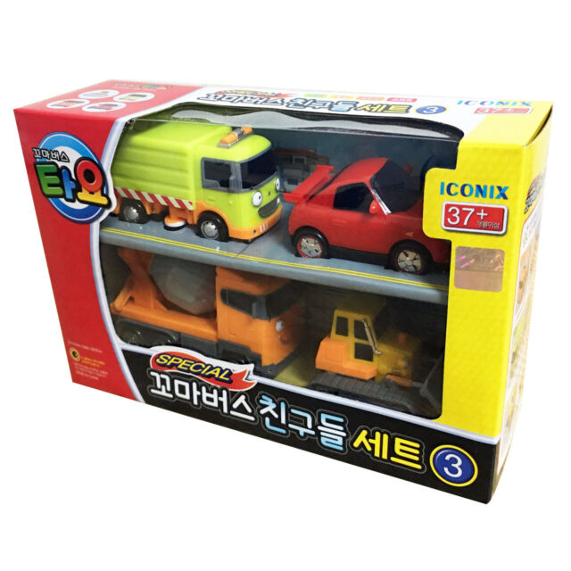 The Little Bus TAYO Friends Special Ver.3 Mini car 4 pcs Ruby Speedy Chris Billy