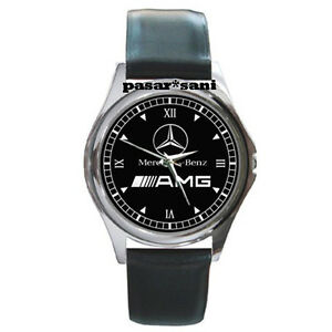 New Mercedes Benz Amg Custom Round Metal Leather Men S Watch