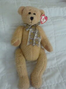 """1995 Retired TY Beanie ..Classic 18"""" Jointed Teddy Bear """"Eleanor"""" Style 5500 (A7"""