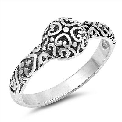 7 mm Sterling Silver 925 USA Seller Bali Design Toe Ring Face Height