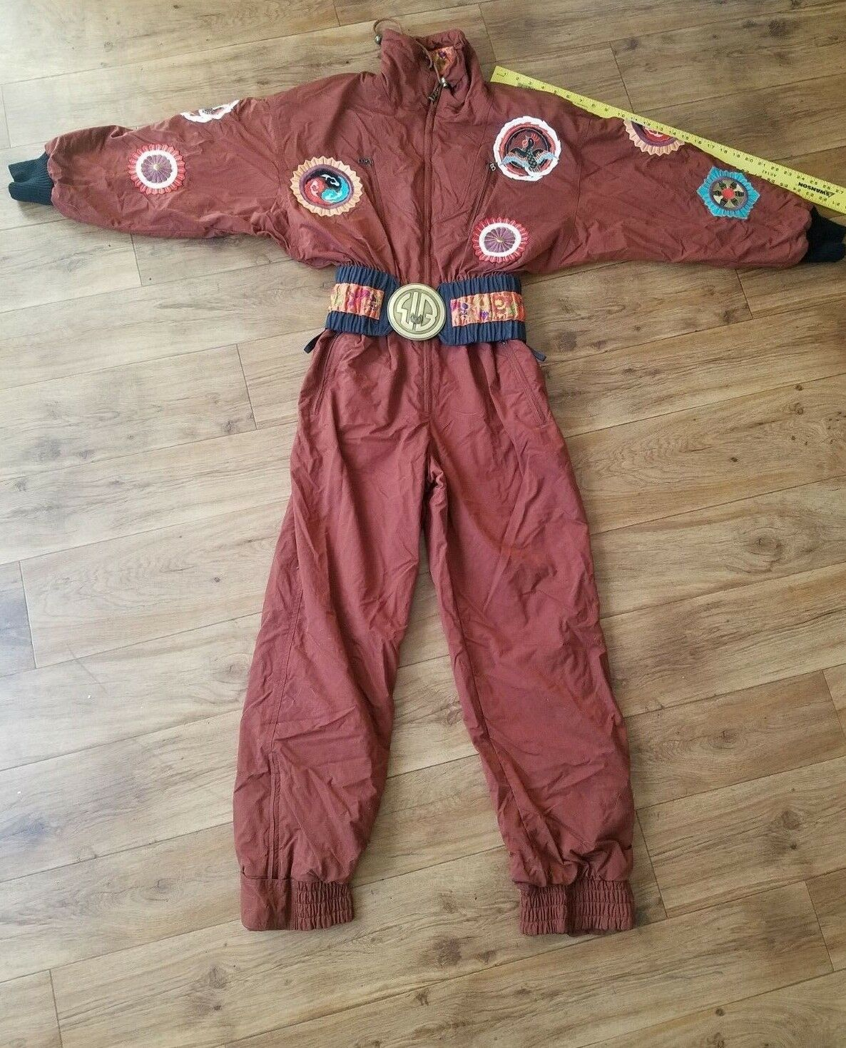 VINTAGE  WOMEN'S Sz 8L BOGNER ONE PIECE SNOWSUIT SKI  trendy