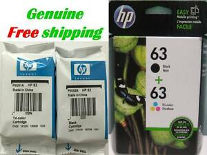 GENUINE-HP-63-Black-Color-Ink-Cartridge-Combo-for-HP1112-3632-3634-3637-Printer