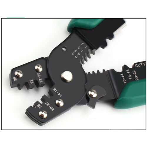 3in1 Crimping Cutter Cable Wire Stripper Pliers Electrical Terminal Crimper Tool