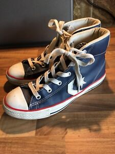 converse leather baseball boots