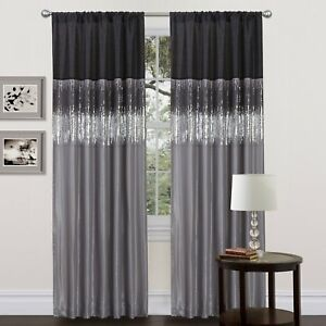 2019 year for women- Silver black curtains