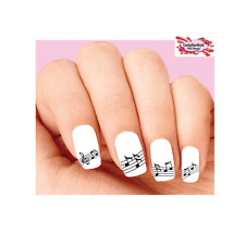 Waterslide Nail Decals Art Set of 20 - Music Notes Assorted