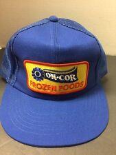 Vintage On Cor Frozen Foods Hat Cap Snapback Trucker Hat Blue