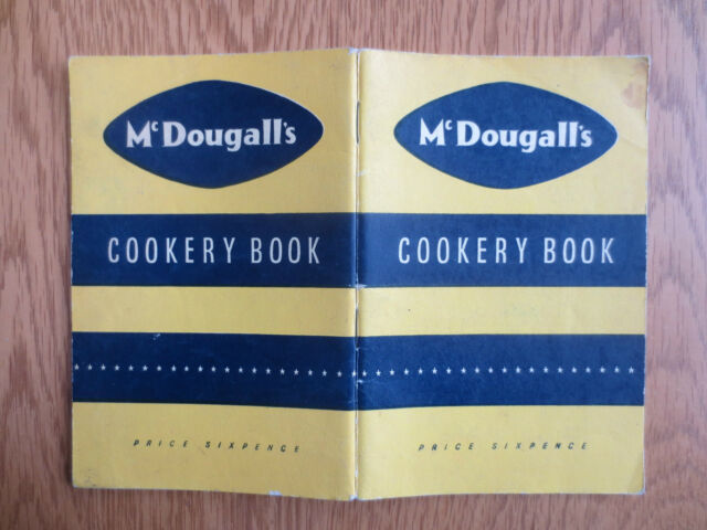 Vintage BAKING McDougall's Cookery Book Booklet OLD Cake Bread Biscuit Recipes