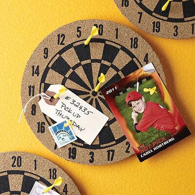 Work Darts Dartboard Message Board, Cork Board and Pushpin Set, Stocking Stuffer
