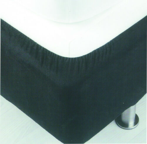 Black Belledorm Divan Bed Base Wrap Faux Suede Grey Linen or Chocolate