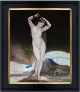 Framed-Quality-Hand-Painted-Oil-Painting-Repro-Bouguereau-Bather-20x24in
