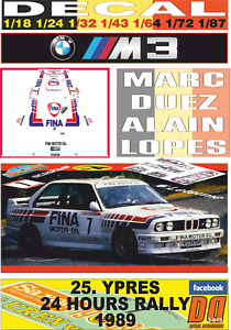 DECAL BMW M3 M.DUEZ YPRES 24 HOURS R. 1989 2 a (03)