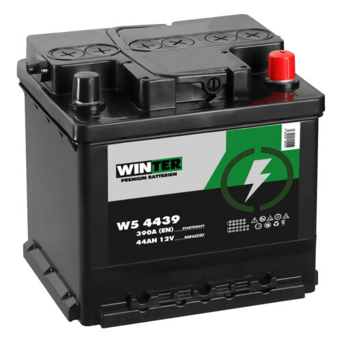 WINTER Autobatterie 12V 44AH 390A ersetzt 35Ah 36Ah 40Ah 42Ah 45Ah FIAT Punto