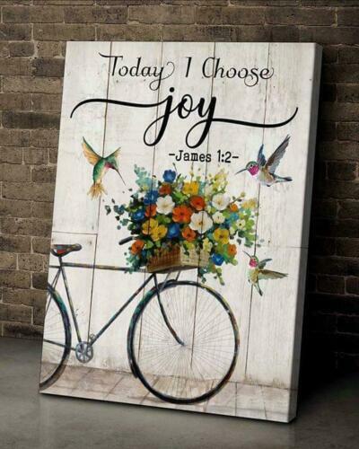 Hippie Hummingbird Today I Choose Joy  Canvas 0.75in Framed