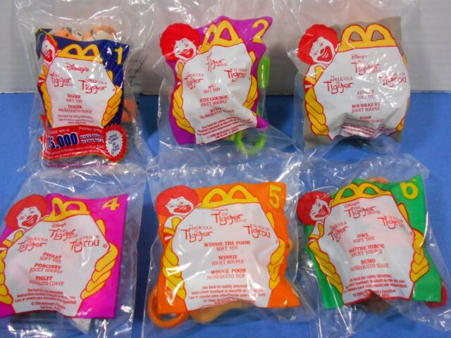 McDonald's Happy Meal Toys Disney's The Tigger Movie 1-6 Plush Toy 2000 Sealed
