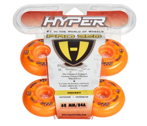 Orange 72500 Hyper Outdoor-Rollen für Inlineskates Pro 250 80mm Freizeit 84A