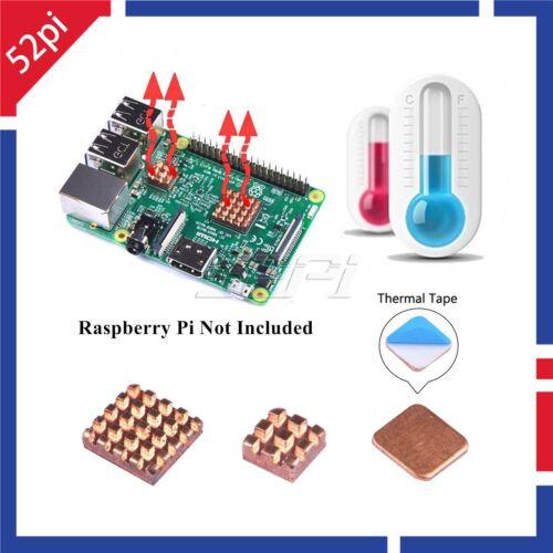 1 Set //3 Pcs of Copper Heat Sink Cooling Kit for Raspberry Pi 3 Model B//B+