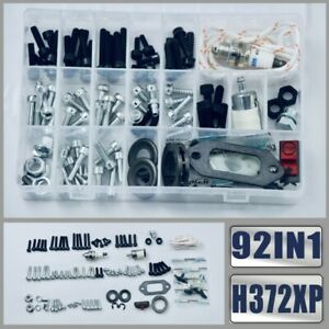 Farmertec 92IN1 Screws Bolts Nuts Clips Chain Tensioner Hardware Kit for Husqvarna 362 365 371 372XP Chainsaw