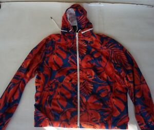 NWT-Tommy-Hilfiger-island-flowers-red-blue-hoodie-fitness-shell-jacket-men-XXL