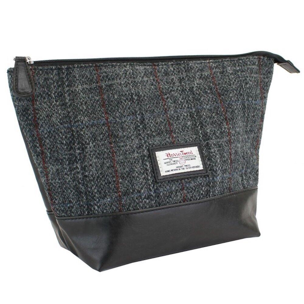 Luxe Gris lavage Sac avec un traditionnel Harris Tweed Tartan Gris Luxe Design Coffret Cadeau 39a605