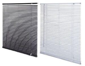 Easy-Fit-PVC-Venetian-Blind-Window-Blind-All-Sizes-Drop-150cm-Black-White
