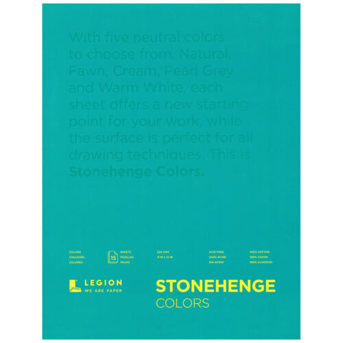 23x30cm Stonehenge Multi Couleur Dessin Pad 15 feuilles 9x12in