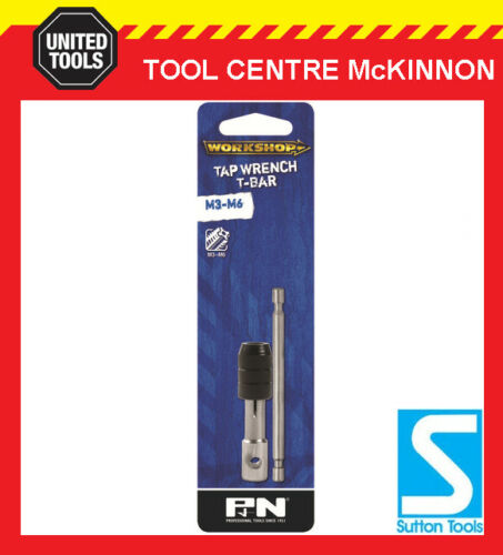 M6 TAPS P/&N BY SUTTON TOOLS TAP WRENCH T HANDLE BAR TYPE FOR M3