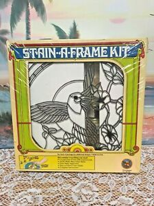 Sun-Catcher-Stain-A-Frame-Kit-Hummingbird-11-034-New-Sealed