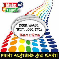 Oval Self Adhesive Amp Custom Printed Full Colour Sticky Labels