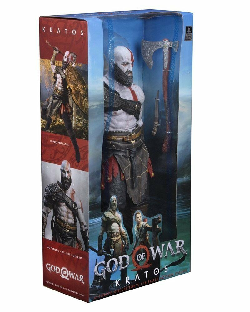 God of War 2018 50cm 18inch Scale Scale Scale Kratos 1 4 Sony Videogame Action Figure NECA d63af3