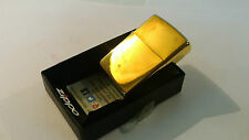 24ct GOLD PLATED GENUINE ZIPPO PETROL LIGHTER GIFT BOXED 24k