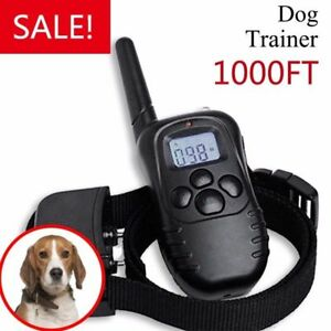 Rechargeable-Petrainer-Electric-Dog-Training-Collar-Shock-Collar-LCD-Remote-300M