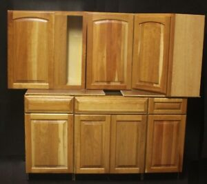 Details about Set Of 13 Kraftmaid Honey Spice Cherry Kitchen Cabinets. 29  cabinets in stock