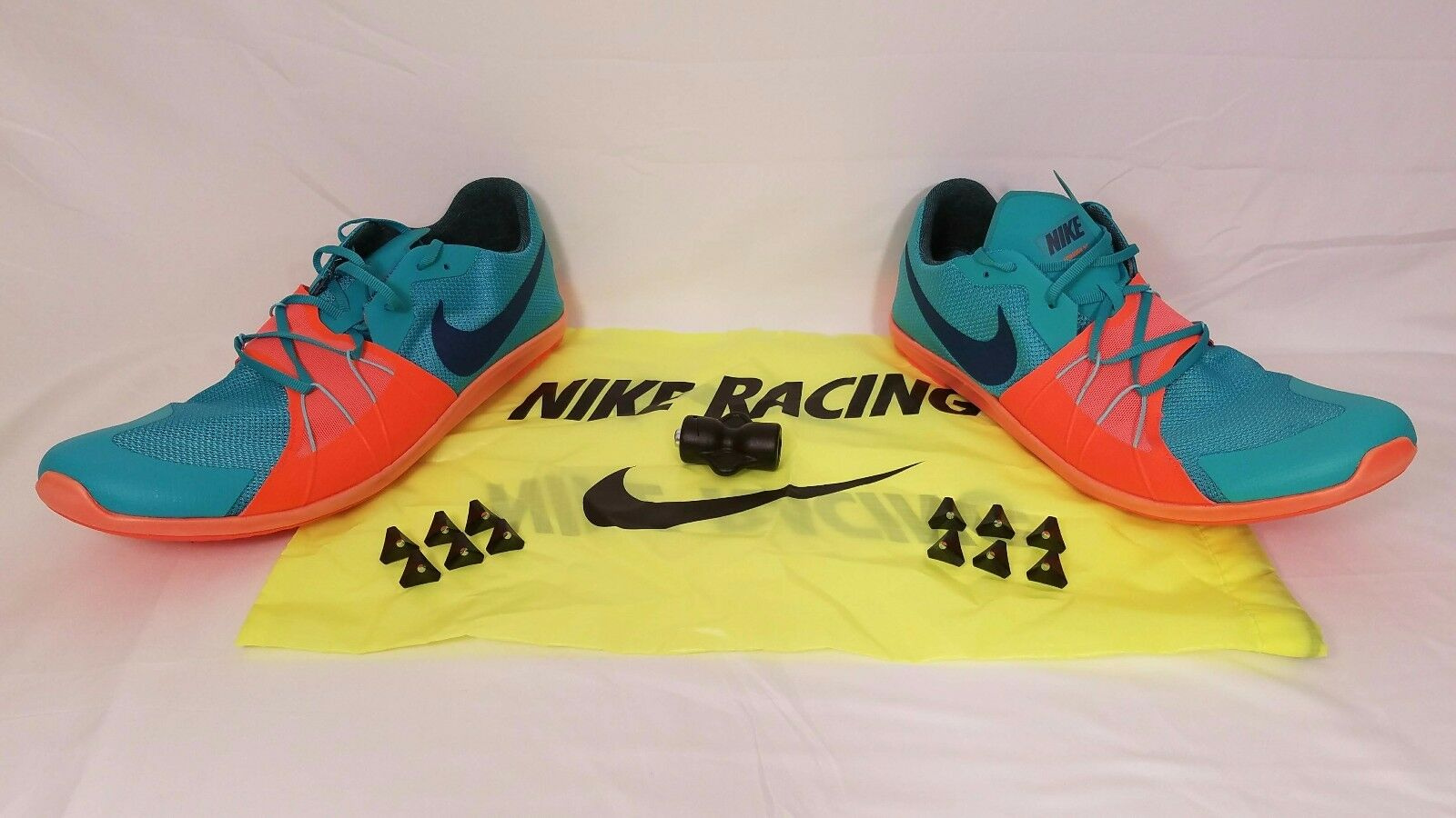 Nike Zoom Forever XC 5 Men's Spikes Clear Jade Hyper Crimson Sz 12.5 904723-308