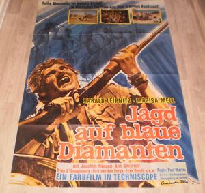 A0 Filmplakat  JAGD AUF BLAUEN DIAMANTEN , HARALD LEIPNITZ,MARISA MEIL