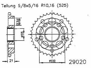 KERA-Chaines-Feuille-engrenage-Acier-Pignon-duc748-916-996525t41z-teflonring-Ducati