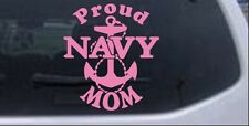 Proud Navy Mom Anchor Car or Truck Window Laptop Decal Sticker Pink 6X6.5