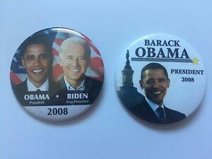 2-Original-2008-President-Barack-Obama-2-25-Inch-Campaign-Buttons-Joe-Biden