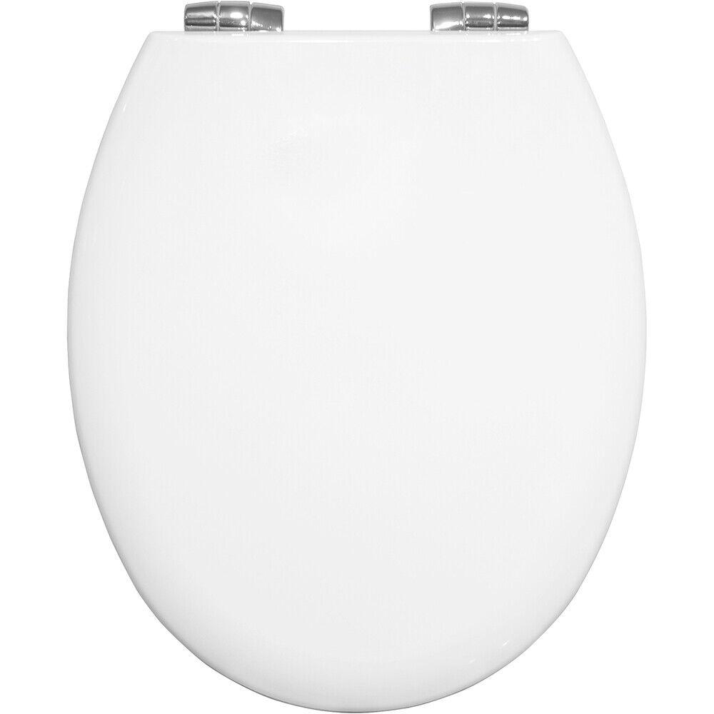 Bemis 4100CL New York Soft in Legno Sedile Del Water Cerniera cromato e bianco